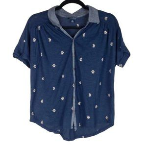 Lucky Brand Button Down Short Sleeve Top